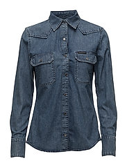 Western Lean Shirt - - SOHO BLUE