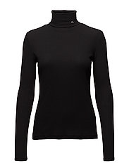 LIDO-2 RIB ROLL NECK - CK BLACK