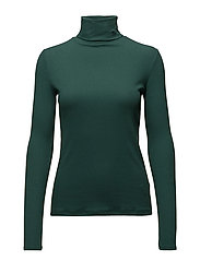 LIDO-2 RIB ROLL NECK - TREKKING GREEN
