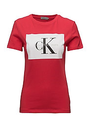TANYA-40 CN TEE S/S, - TANGO RED / BRIGHT WHITE