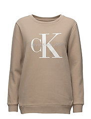 CREW NECK HWK TRUE ICON - SILVER MINK