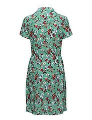DIXIE DRESS SS, 372, - AOP FLOWER / MING GREEN COMBO