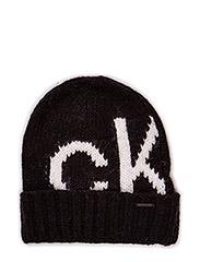 Magda unisex intarsia bonnet - BLACK