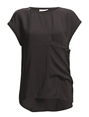 Neema rn top s/s - BLACK