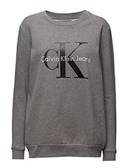 CREW NECK HWK TRUE ICON - LIGHT GREY HEATHER