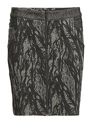 Frankie dark hknit skirt - BLACK