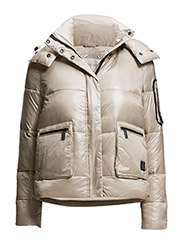 Amelia shiny down jacket - GREY