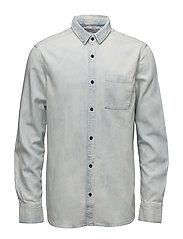 Patch pocket Shirt - - BLUE TORNADO