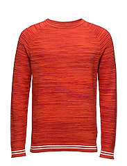 SOLY CN SWEATER LS, - REBEL RED