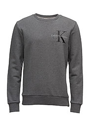 HAXO 4 CN HKNIT LS, - MID GREY HEATHER
