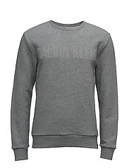 HABAS CN HKNIT L/S, - MID GREY HEATHER