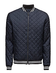OBAS QUILTED BOMBER, - NIGHT SKY