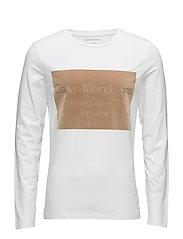 TAVID SLIMFIT CN TEE - BRIGHT WHITE
