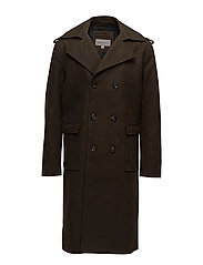 OHANZ MILITARY COAT, - GRAPE LEAF