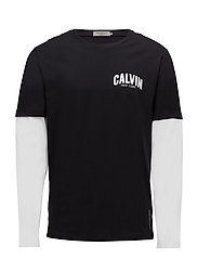 TERQ REGULAR CN TEE LS - CK BLACK / BRIGHT WHITE