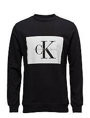 HOTORO REGULAR CN HKNIT LS - CK BLACK / BRIGHT WHITE