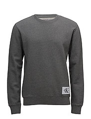 HOMEROS 1 SLIM CN HKNIT LS - MID GREY HEATHER