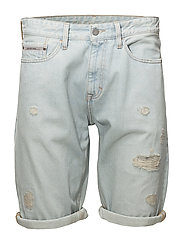 Slim Shorts - Berlin Blue DSTR RGD - BERLIN BLUE DSTR RGD