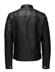 MORUS LEATHER MOTO, - CK BLACK