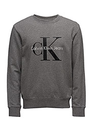 CREWNECK HWK TRUE ICON - MID GREY HEATHER