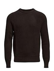 Carson 1 cn sweater l/s - BLACK