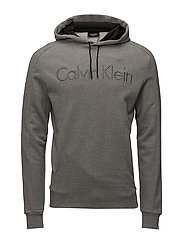 KAMS FRENCH TERRY HOOD LOGO - MID GREY HEATHER