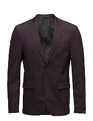 BILL-B STRETCH WOOL SUITING - PLUM PERFECT