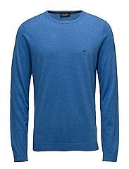 SAUL CREW NECK - OLYMPIAN BLUE HTR