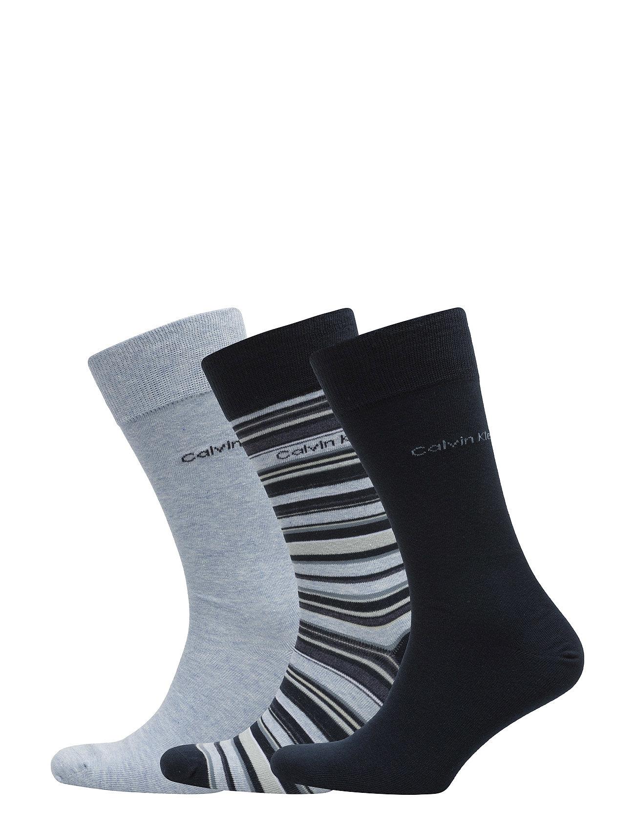 02ede764 Megafine Ck Dexter 3pk Multi Stripe Gift Box 97 Calvin Klein Sokker til i  flotte materialer