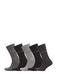 CK MALCOLM 5PK SOLID GIFT BOX 96 - BLACK/GREY ASSORTED