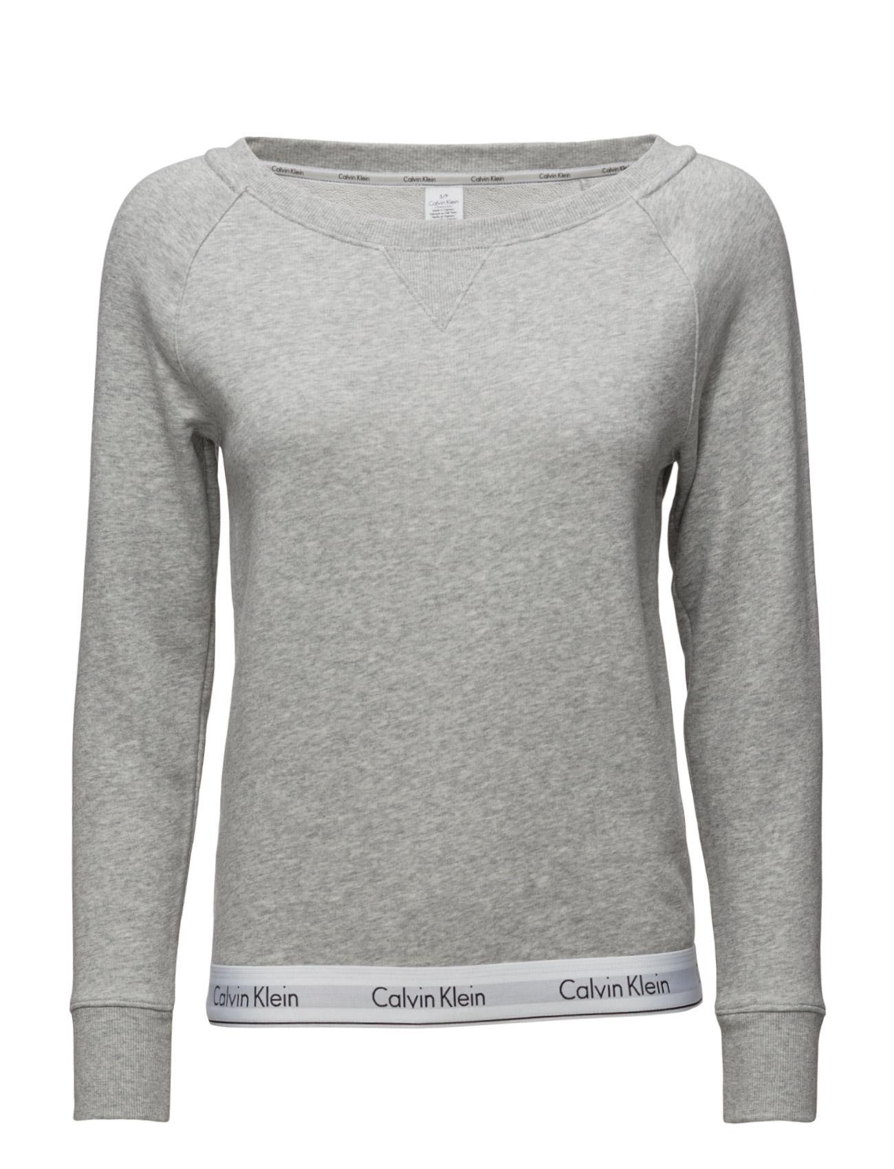 Top Sweatshirt Long Sleeve Calvin Klein  til Damer i Grå