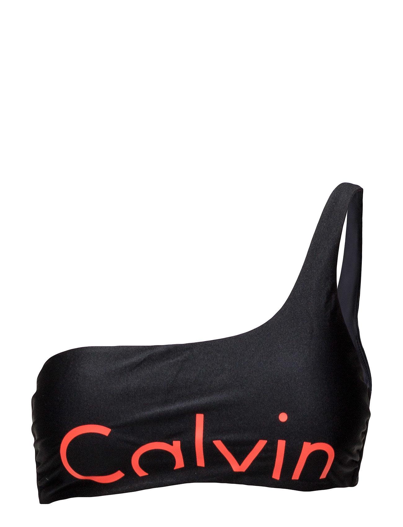 One Shoulder Bralett Calvin Klein Bikinier til Damer i Sort