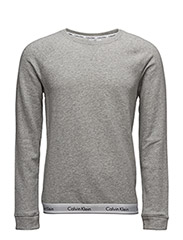 SWEATSHIRT 001, L - GREY HEATHER
