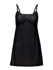CHEMISE V NECK SLEEVLESS - BLACK