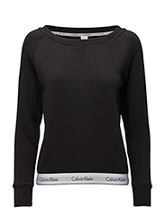 TOP SWEATSHIRT LONG SLEEVE - BLACK