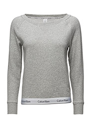 TOP SWEATSHIRT LONG SLEEVE - GREY HEATHER
