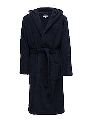 HOODED ROBE, BLU, S- - BLUE SHADOW