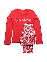 WOVEN PJ SET (2PCS I - PRINCESS RED LG/PRINCESS RED