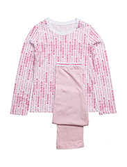 KNIT PJ SET (2PCS) M - WHITE VIVA PINK PR/UNIQUE