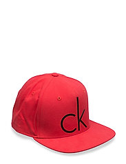 TWILL CAP 600, OS - CHINESE RED/BLACK
