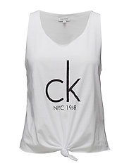 KNOTTED TANK, 001, L - WHITE
