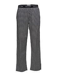 PJ PANT 9IU, L - TRIANGLE WEDGE PRINT BLACK