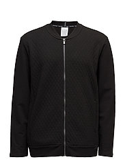 FULL ZIP TOP 001, M - BLACK