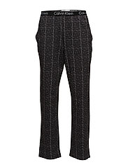 PJ PANT W L/S CREW, - MUSIC BOX GRID SILVER NICKEL /