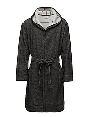 ROBE, LE6, S - BLACK HEATHER