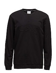 L/S SWEATSHIRT, 001, - BLACK