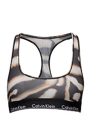 BRALETTE UNLINED, WT - WATERCOLOR ANIMAL_BLEACH OUT