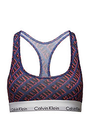 BRALETTE UNLINED, WT - DIAGONAL SHADOW LOGO_VERVE