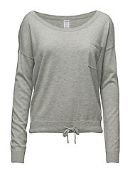 L/S CREW NECK, 020, - GREY HEATHER