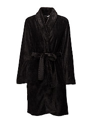 ROBE (HEAVY WEIGHT), - BLACK